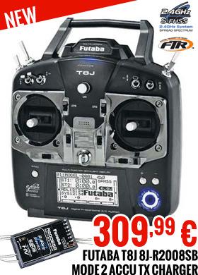 Futaba 8J-R2008SB Mode 2 accu TX chargeur 309,99 €
