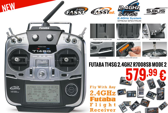 Futaba 14SG R7008SB Mode 2 2.4GHz 579,99 €
