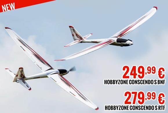 Hobbyzone Conscendo S RTF : 279,99 € / BNF : 249,99 €