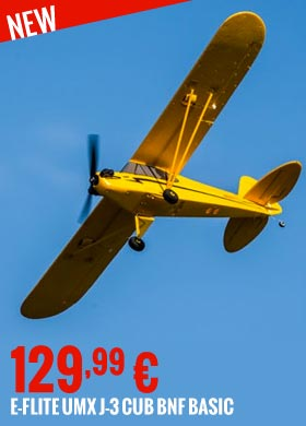 New : E-Flite UMX J-3 Cub BNF Basic EFLU3450 129,99 €