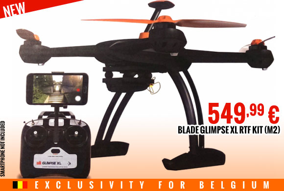 New : Blade Glimpse XL RTF kit (Mode 2) BLH8170M2 549,99 €
