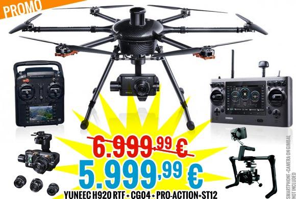 Yuneec PROMO : H920 RTF + CG04 + Pro-action+ST12