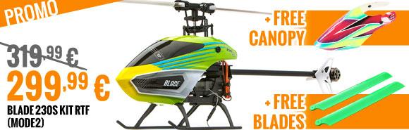 Blade 230s Kit RTF (mode2) 319,99 € > 299,99 € + free Canopy + free blades