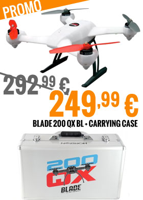 Promo : Blade 200 QX BL + carrying case 292,99 € > 249,99 €