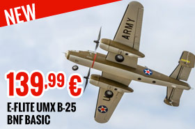 E-flite UMX B-25 BNF Basic 139,99 €