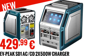 EV-Peak SD1 AC/CD 2x500W charger 429,99 €
