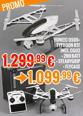 Yuneec Q500+ Typhoon RTF incl.C-GO2+2batt+steadygrip+case 1.299,99 € 1.099,99 €