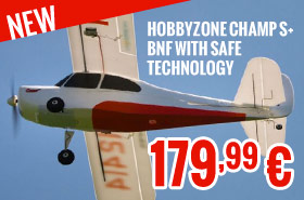 Hobbyzone Champ S+ BNF with SAFE Technology 179,99 €