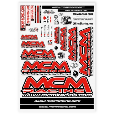 MCM Racing - Stickers Sheet 15