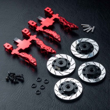 Alum. wheel hubs 6mm (brake disc shaped)