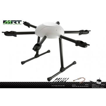 DISC.. 540H Hexa Silver Combo Kit (with motors & esc's)