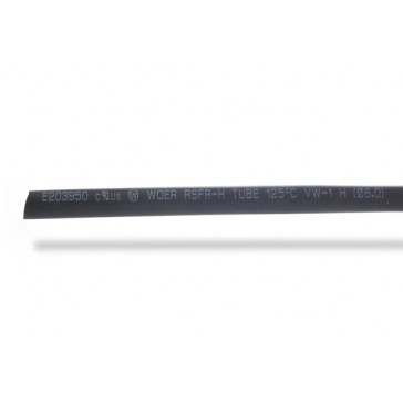 6mm thick shrink tube black - 1m