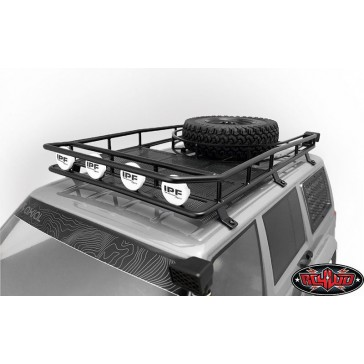 Krabs Roof Rack w/Spare Tire Mount for Axial SCX10 II XJ (Bl