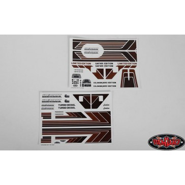 Complete Graphic Decal Set for Cruiser Body