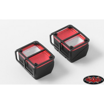 Colored Functional Rear Taillight w/Metal Frame for Axial SC