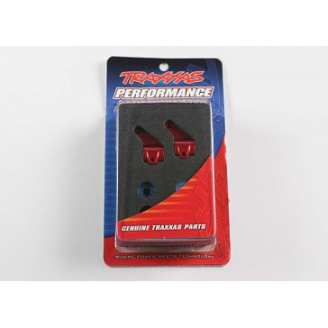 Steering blocks, Rustler/Stampede/Bandit (2), 6061-T6 alumin