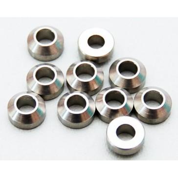 Heavy Duty Steel Silver 3mm Con Washers (10)