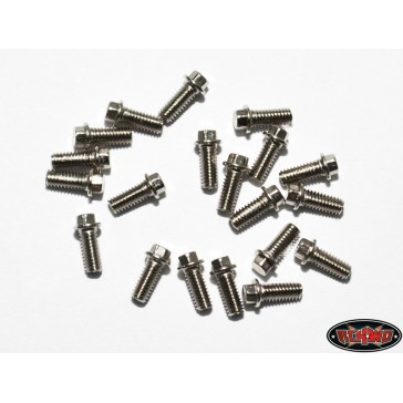 RC4WD Miniature Scale Hex Bolts (M2 5 x 6mm) (Silver)