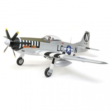 DISC.. P-51D Mustang 1.2m BNF Basic with AS3X and SAFE Select