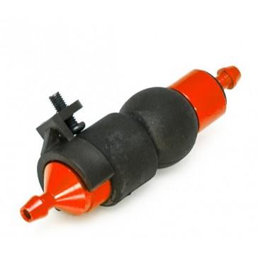 Rouge Filtre a carburant alu anodise avec pompe d amorcage + support