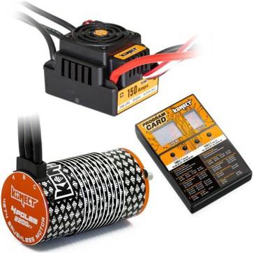 COMBO BRUSHLESS 80Amp SCT WP + moteur 4P 3660SL 2750Kv+carte de prog