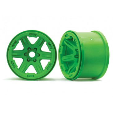 Wheels, 3.8' (green) (2) (17mm splined)