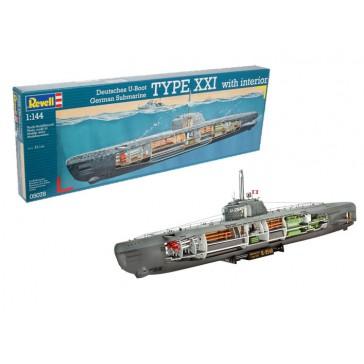 U-boat Typ XXI U 2540 &Interieur 1:144