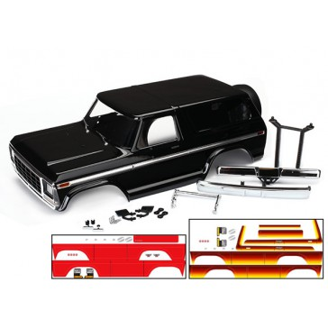 Body Ford Bronco complete (black) (includes front and rear bumpers, .