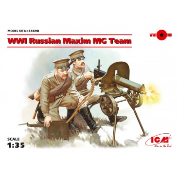 WWI Russian Maxim MG Team 1/35