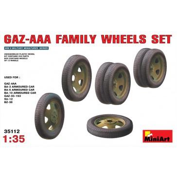 GAZ AAA Wheels Set 1/35