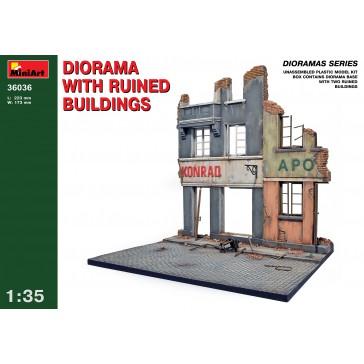 Diorama Ruined Build. 1/35