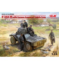 P 204 (f) with German Armoured Vehi