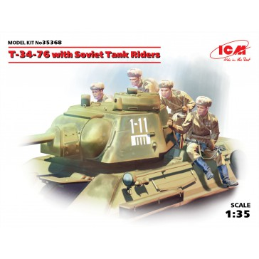 T-34-76 & Soviet Tank Riders 1/35