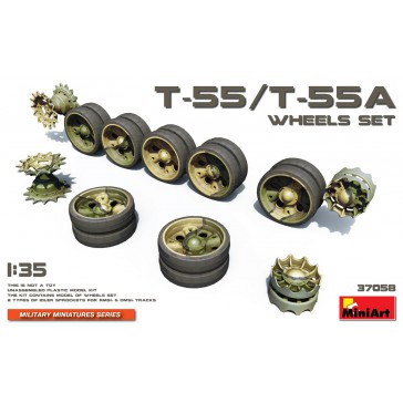 T55 - T55A Wheels Set 1/35