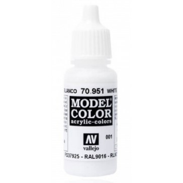 Peinture Acrylique Model Color (17ml) - Matt White