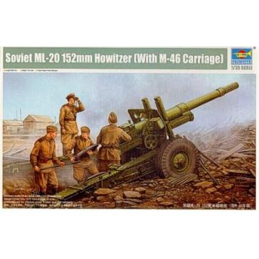 Sov.ML20 152mm Howit & M46 Car.1/35