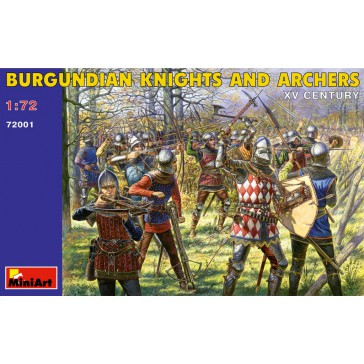 Burgund.Knight&Archers 1/72