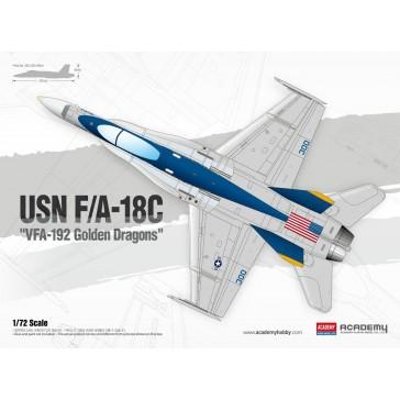 USN F/A 18C VFA192 Golden Drag.1/72