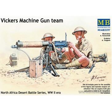 Vickers Mach.Gun Team & 2 deads1/35