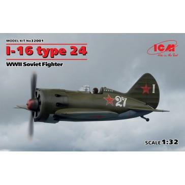 I-16 type 24. WWII Soviet . 1/35