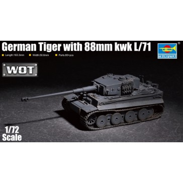 German Tiger with 88mm kwk L/711/72