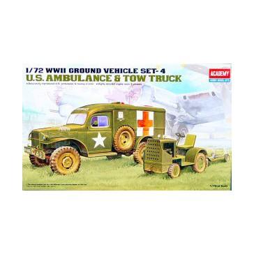 US Ambulance+Tractor 1/72
