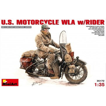 U.S.Motorcycle WLA with Rider 1/35