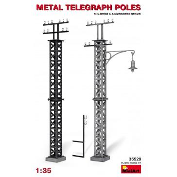 Metal Telegraph Poles 1/35