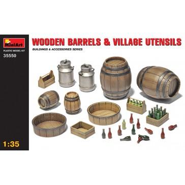 Wooden Barrels & Ustensils 1/35