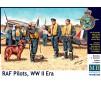 Pilots RAF WW II 3 Fig+Dog 1/32