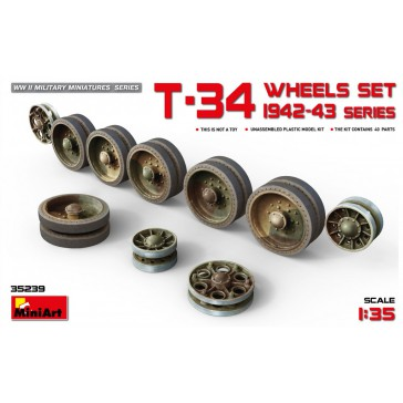 T-34 Wheels Set. 1942-43 1/35