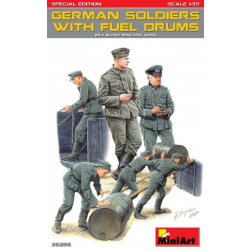 German Soldiers with Fuel Drums1/35