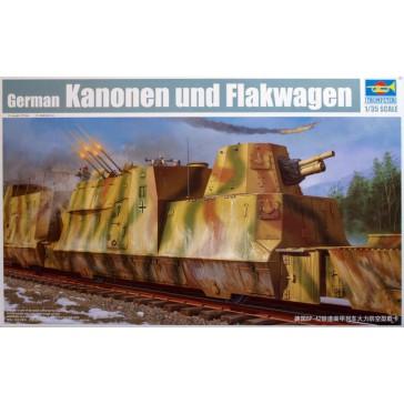Kanonen und Flakwagen1/35