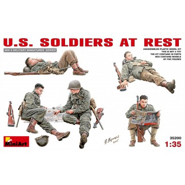 US Soldiers At Rest 1/35